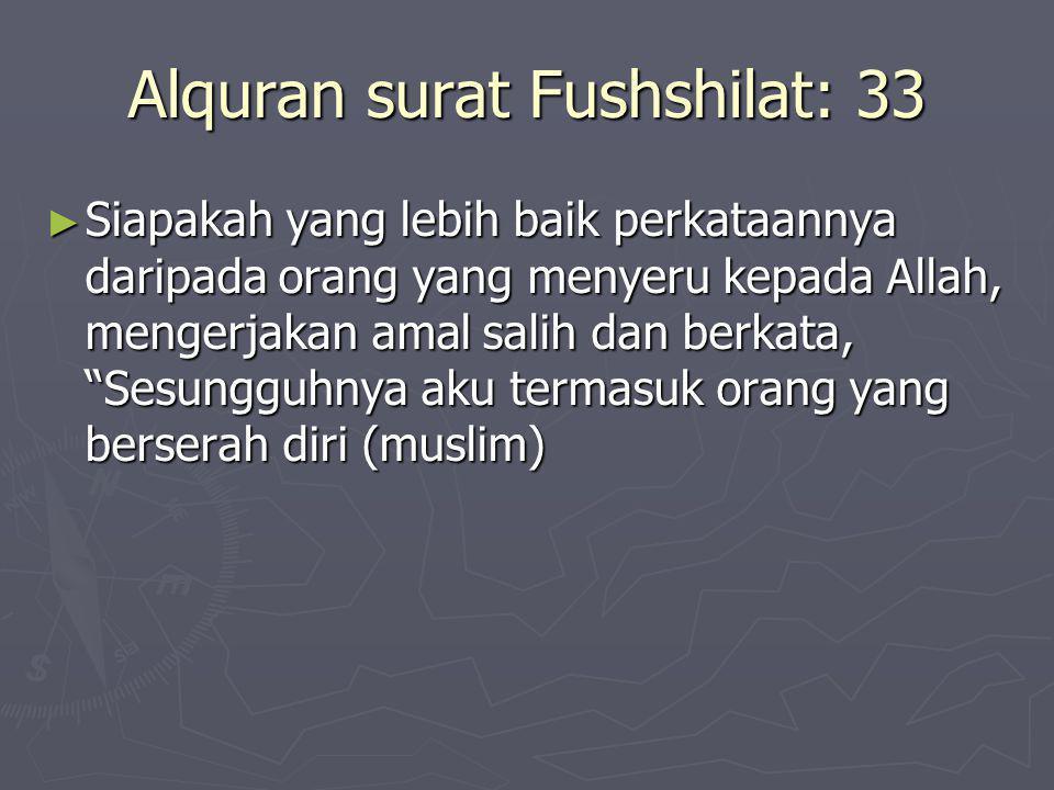 Alquran surat Fushshilat: 33