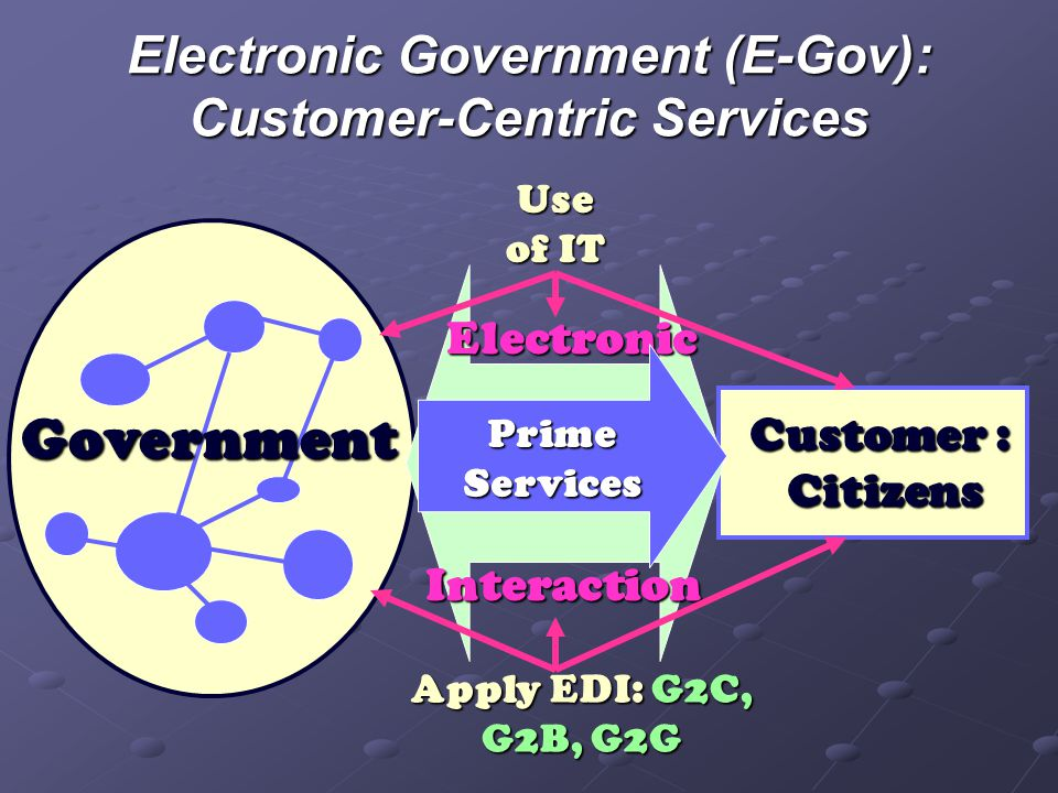 Electronic Government (E-Gov): Customer-Centric Services
