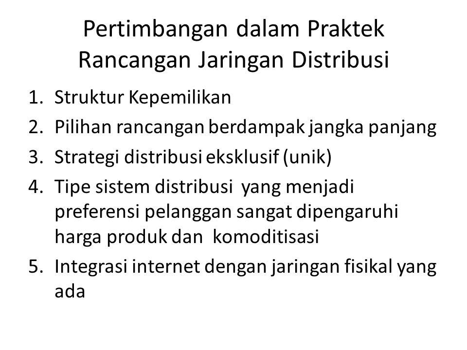Pertimbangan dalam Praktek Rancangan Jaringan Distribusi