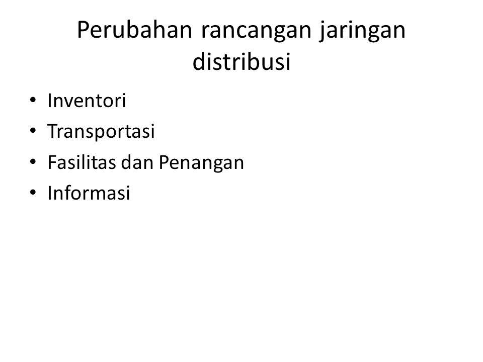 Perubahan rancangan jaringan distribusi