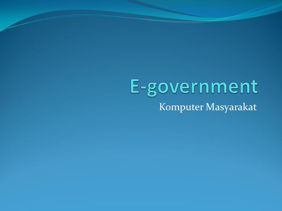 E-government Komputer Masyarakat