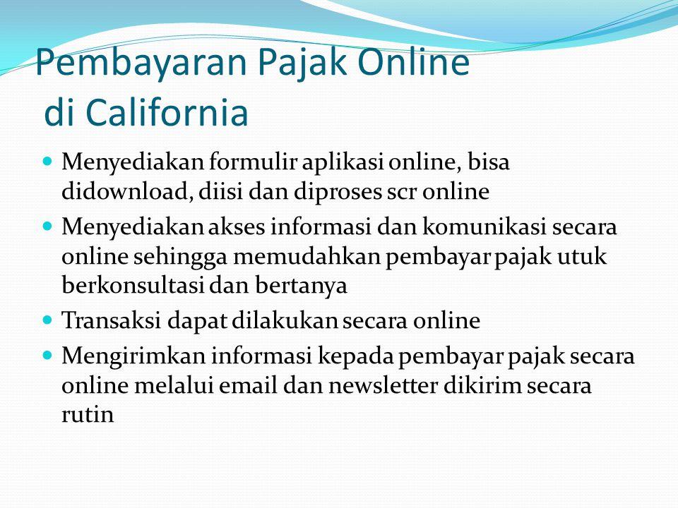 Pembayaran Pajak Online di California