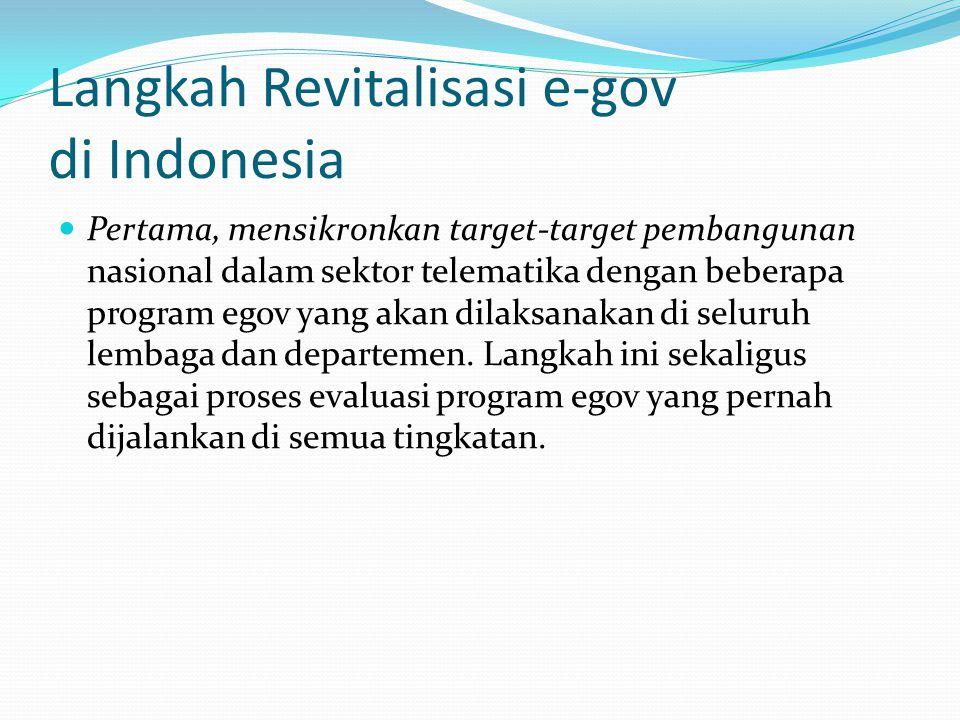 Langkah Revitalisasi e-gov di Indonesia