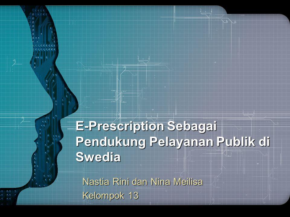 E-Prescription Sebagai Pendukung Pelayanan Publik di Swedia
