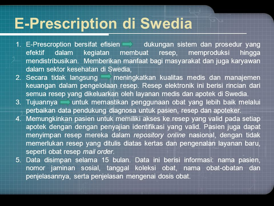 E-Prescription di Swedia