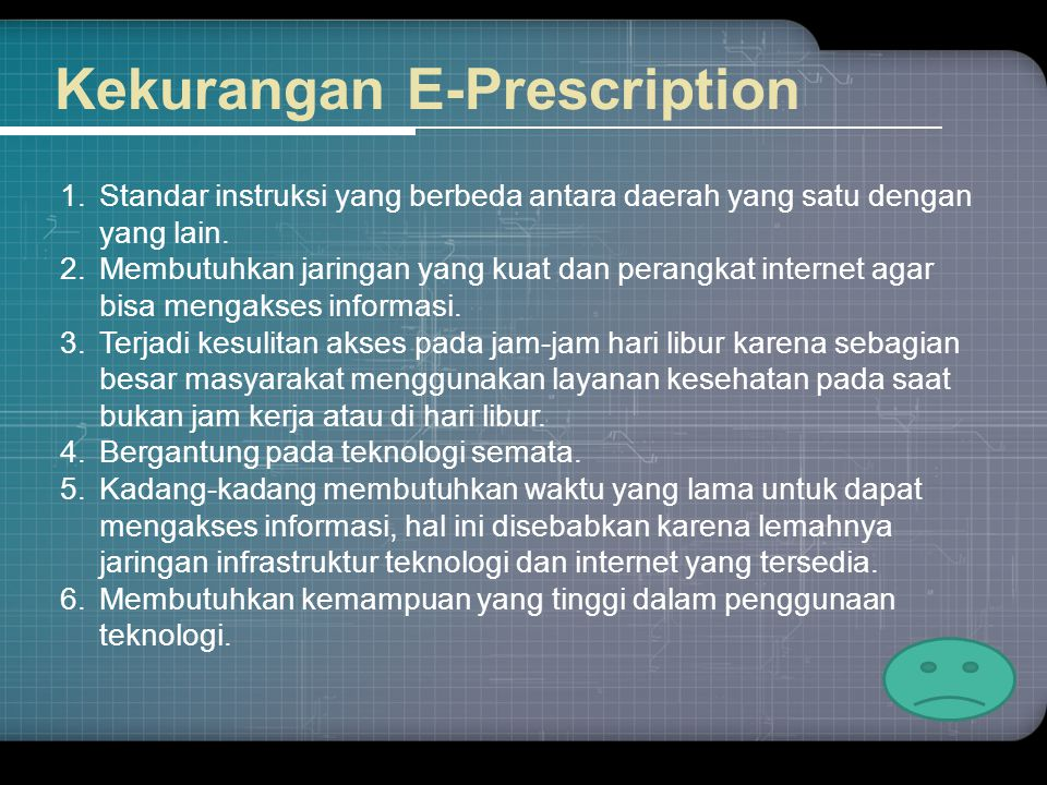 Kekurangan E-Prescription