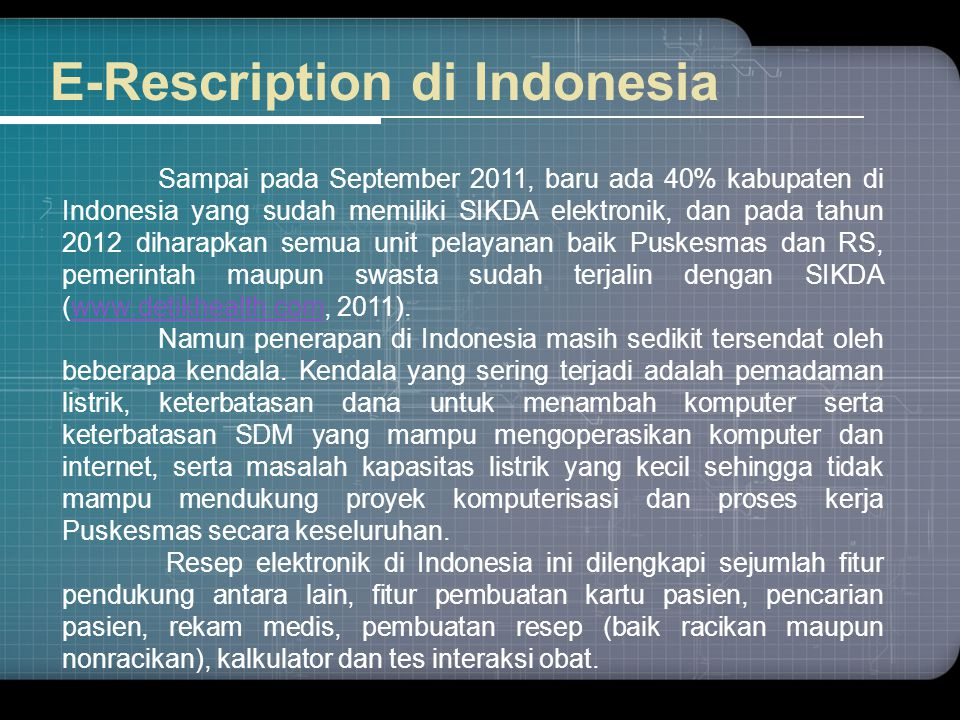 E-Rescription di Indonesia