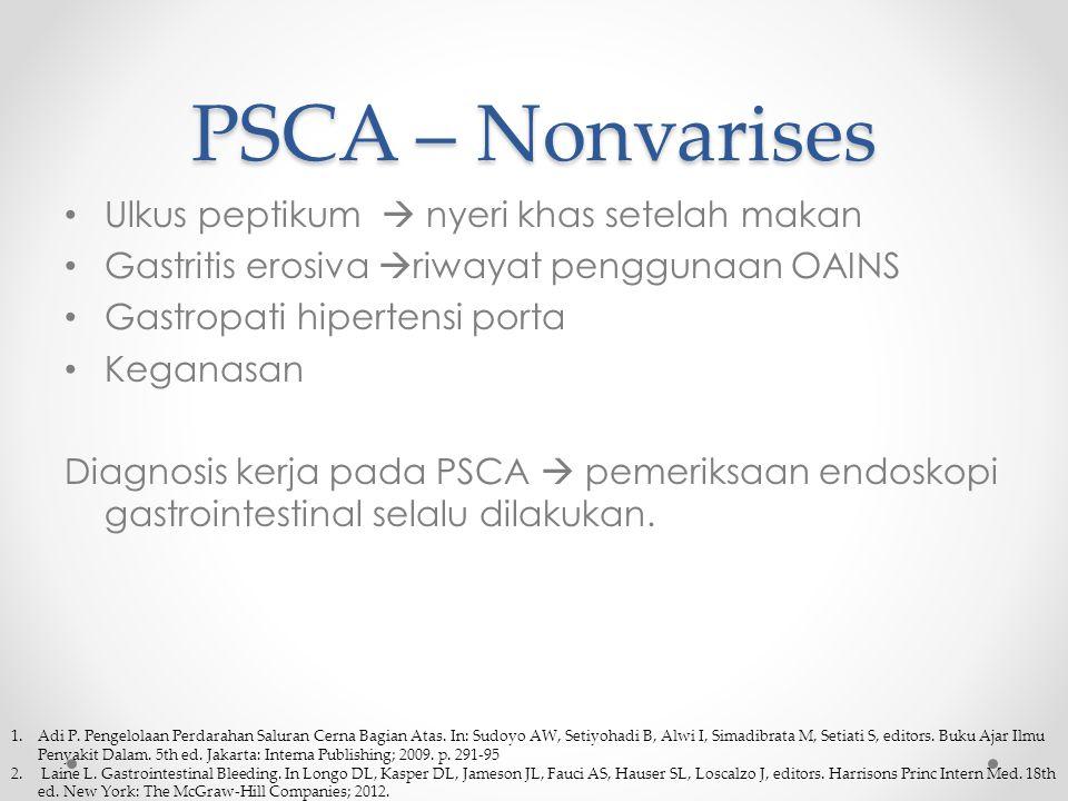 PSCA – Nonvarises Ulkus peptikum  nyeri khas setelah makan