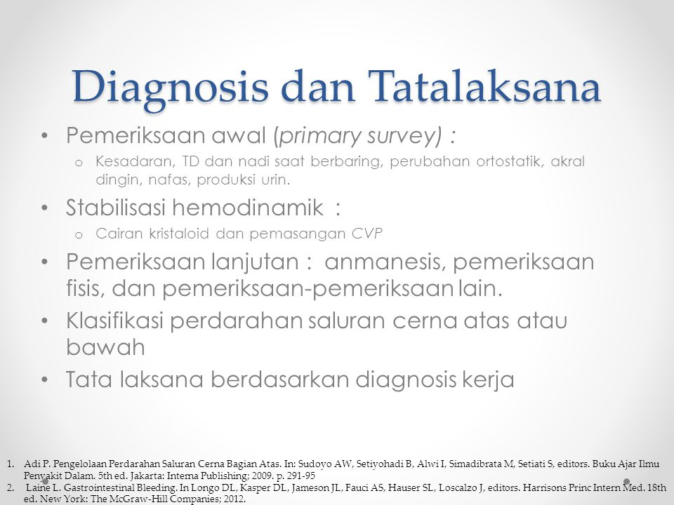 Diagnosis dan Tatalaksana