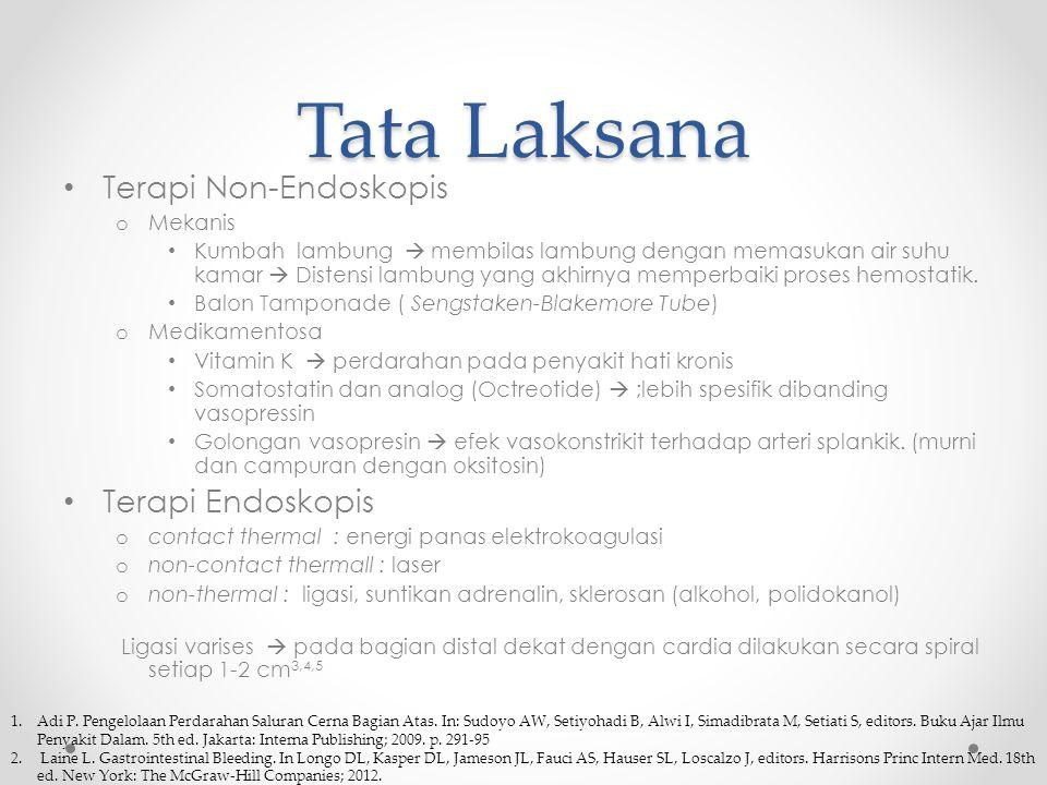 Tata Laksana Terapi Non-Endoskopis Terapi Endoskopis Mekanis