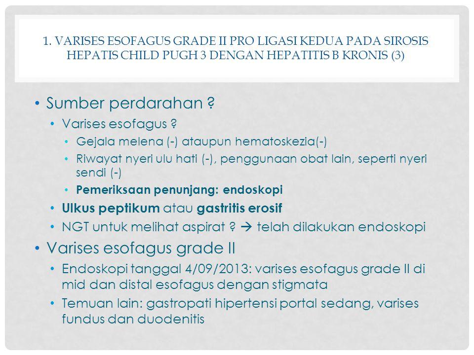 Varises esofagus grade II