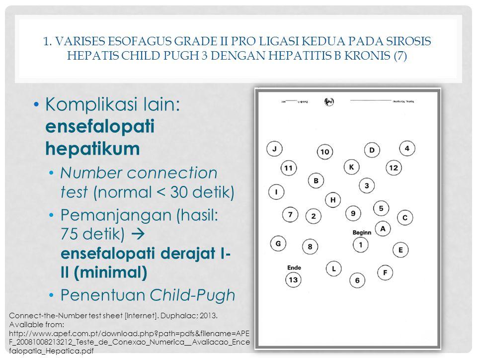 Komplikasi lain: ensefalopati hepatikum