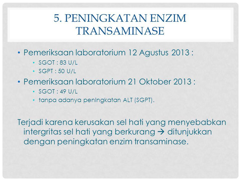 5. Peningkatan enzim transaminase