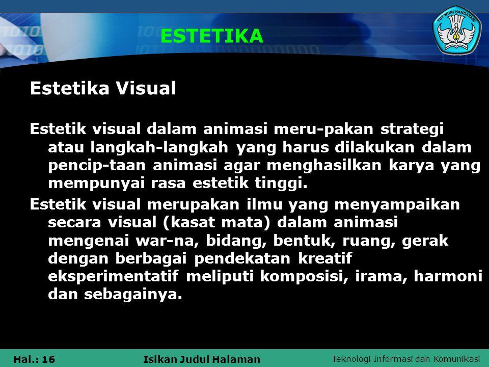 ESTETIKA Estetika Visual