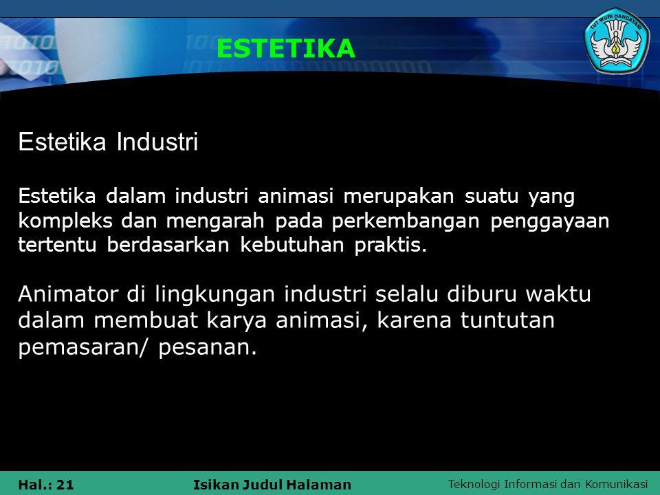 ESTETIKA Estetika Industri