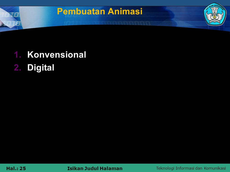 Pembuatan Animasi Konvensional Digital