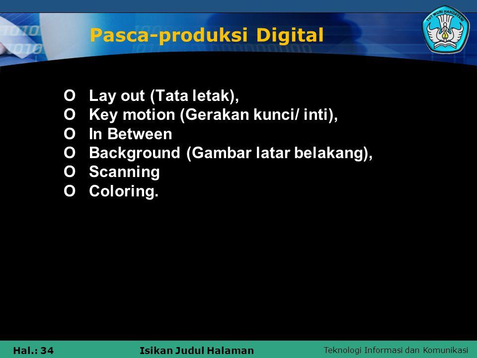 Pasca-produksi Digital