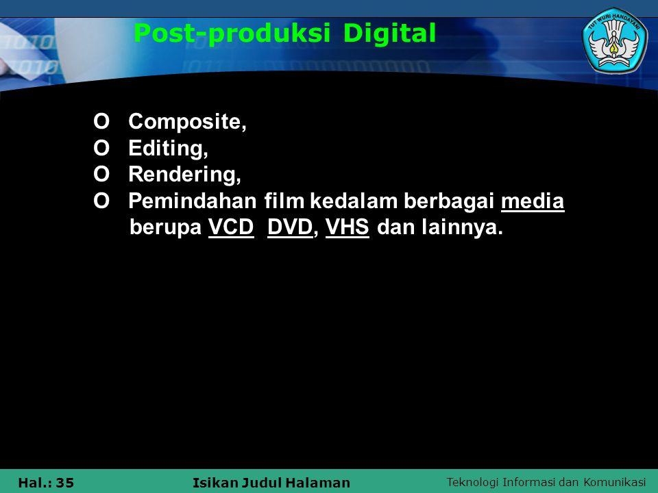 Post-produksi Digital