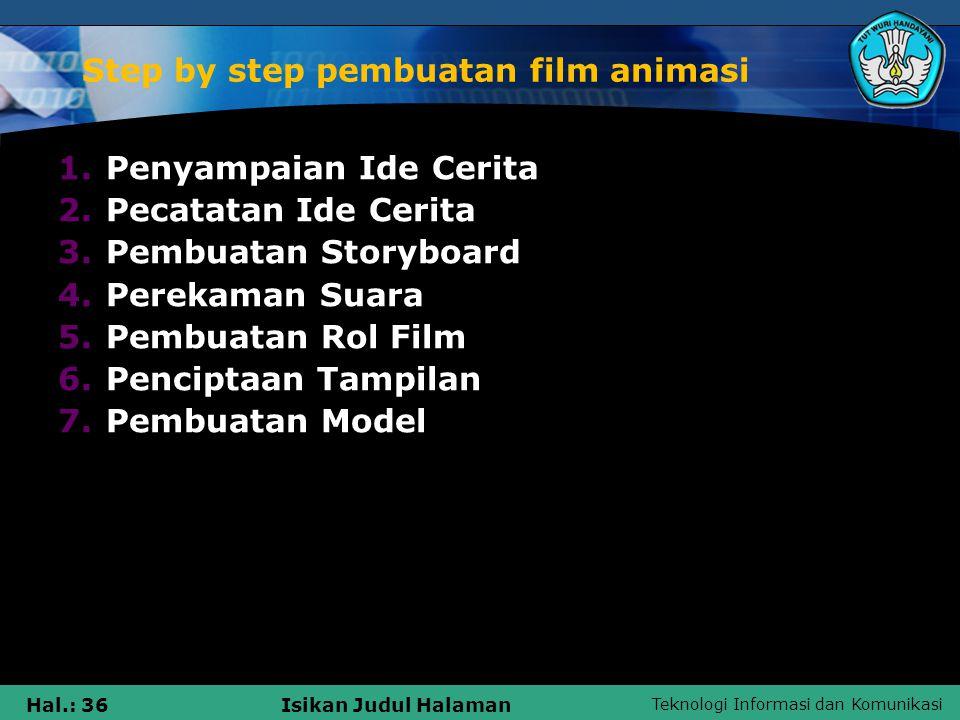 Step by step pembuatan film animasi