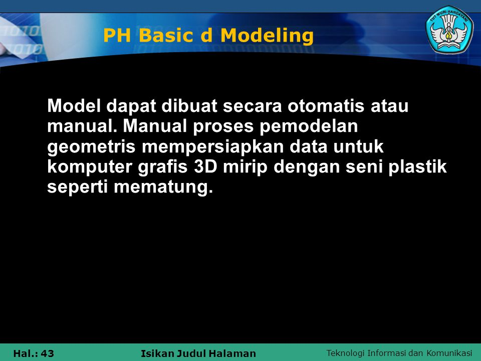 PH Basic d Modeling