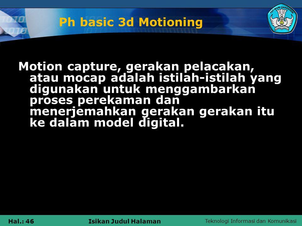 Ph basic 3d Motioning