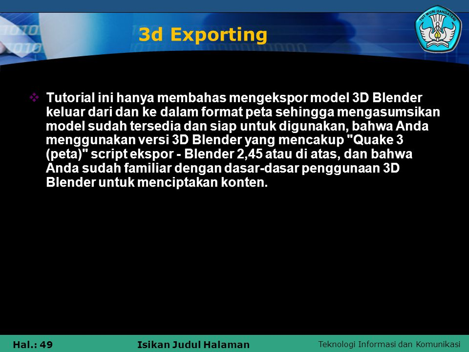 3d Exporting
