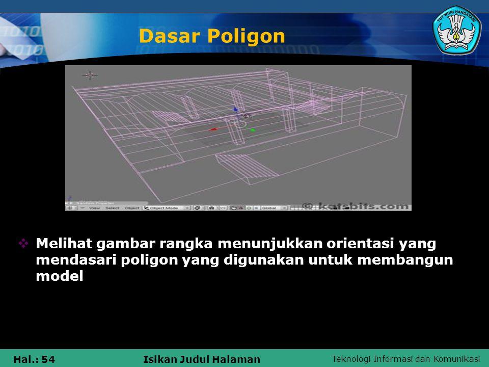Dasar Poligon Melihat gambar rangka menunjukkan orientasi yang mendasari poligon yang digunakan untuk membangun model.
