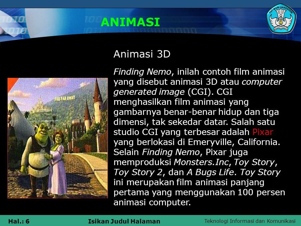 ANIMASI Animasi 3D.