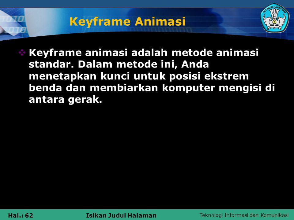 Keyframe Animasi