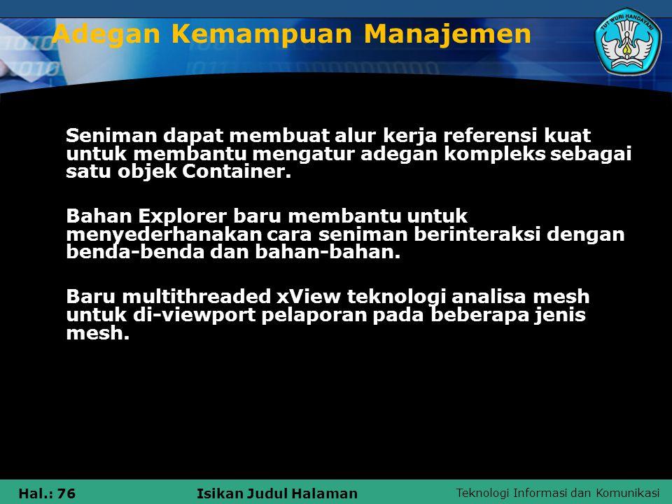 Adegan Kemampuan Manajemen