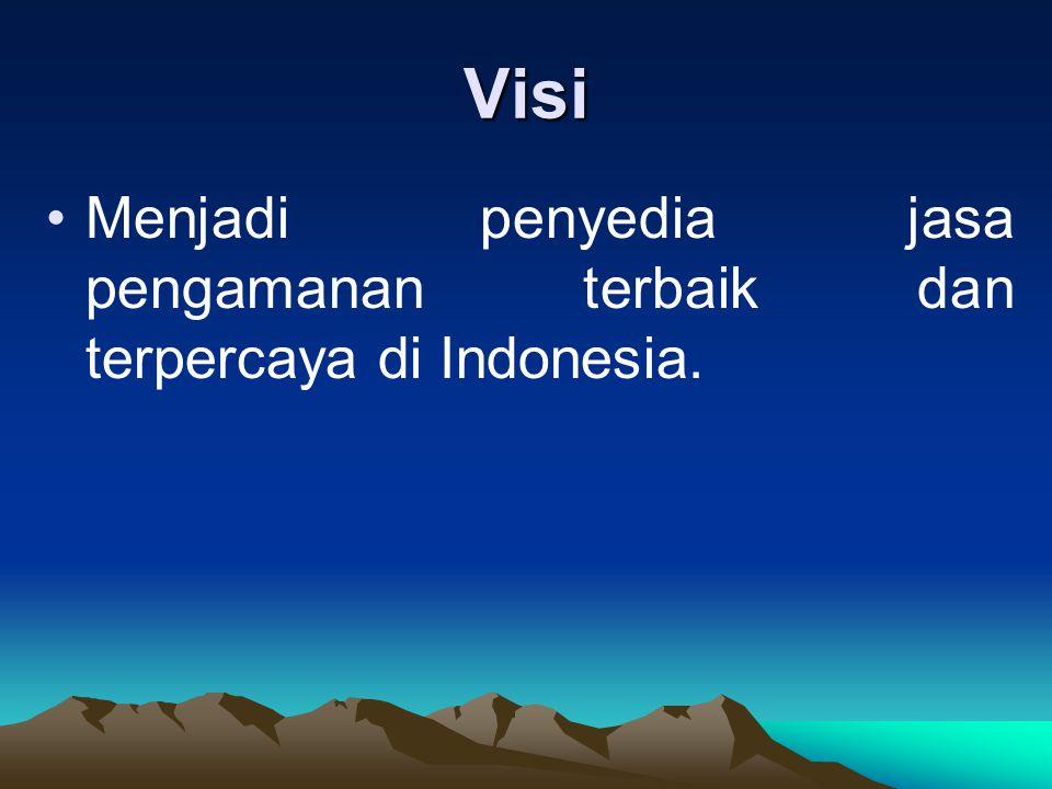 Visi Menjadi penyedia jasa pengamanan terbaik dan terpercaya di Indonesia.