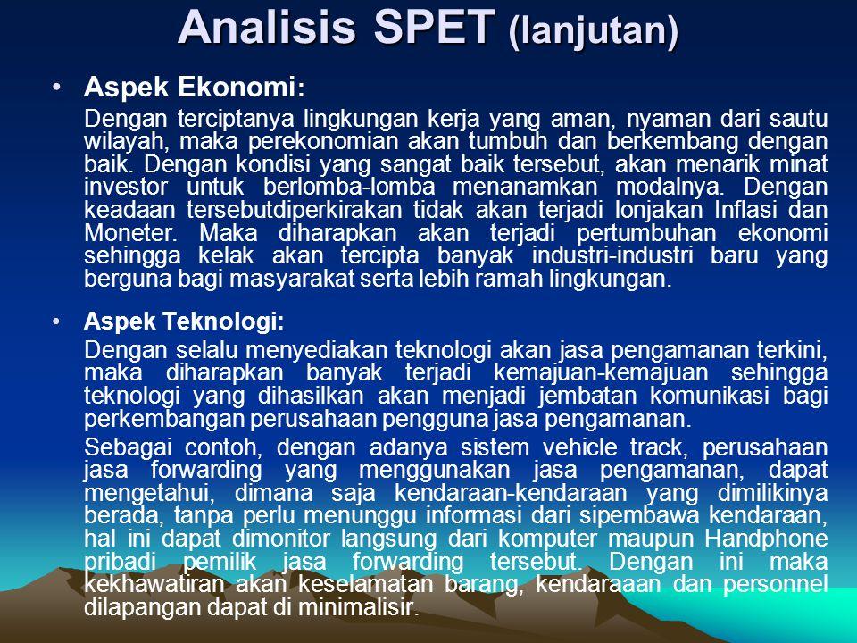 Analisis SPET (lanjutan)