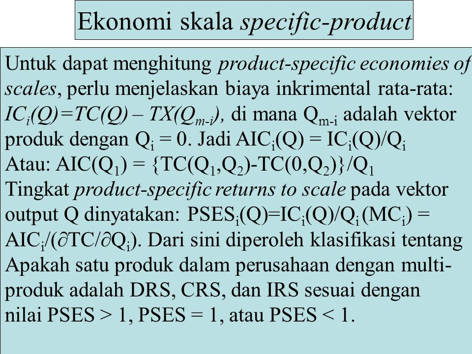 Ekonomi skala specific-product