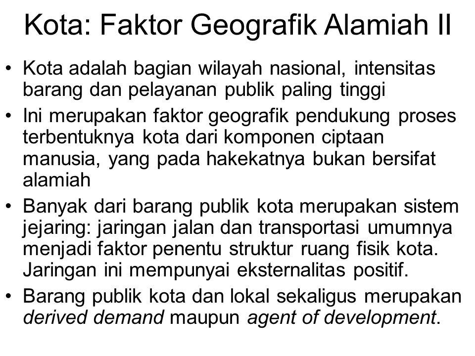 Kota: Faktor Geografik Alamiah II