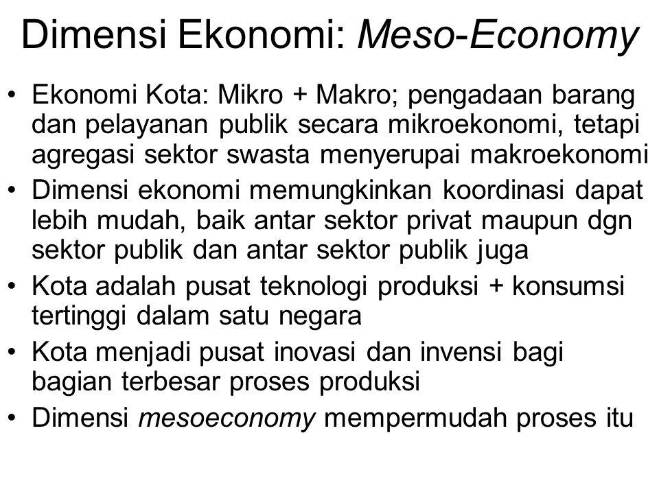 Dimensi Ekonomi: Meso-Economy