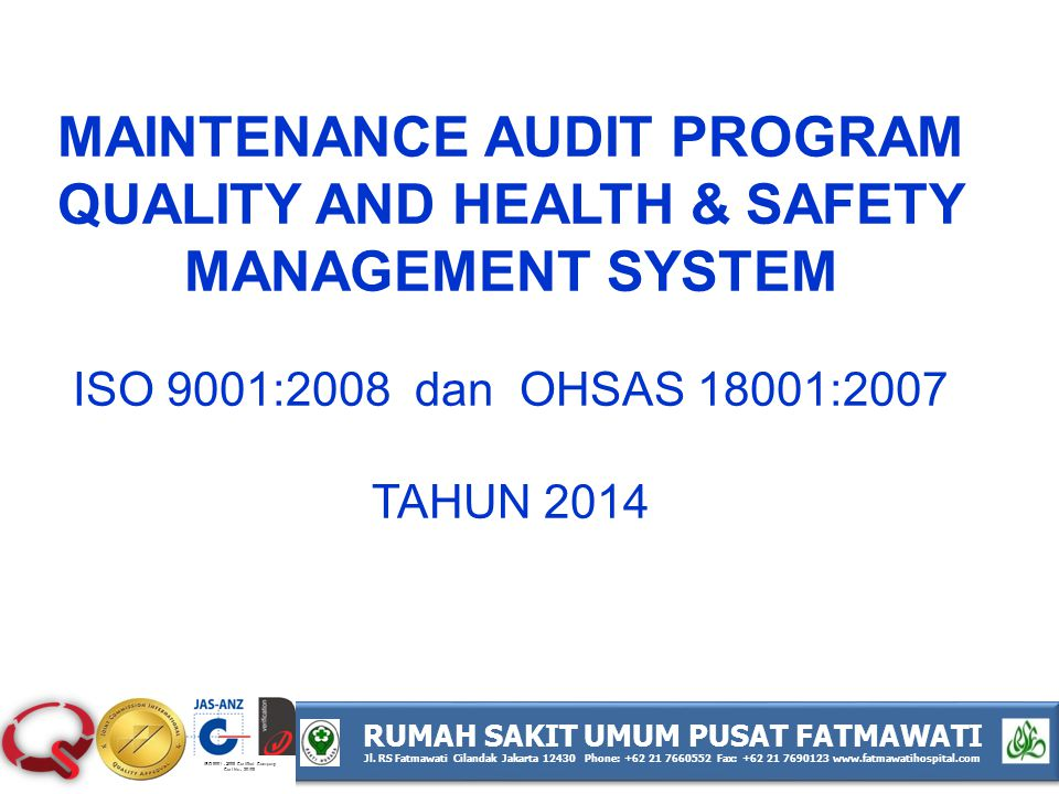 MAINTENANCE AUDIT PROGRAM