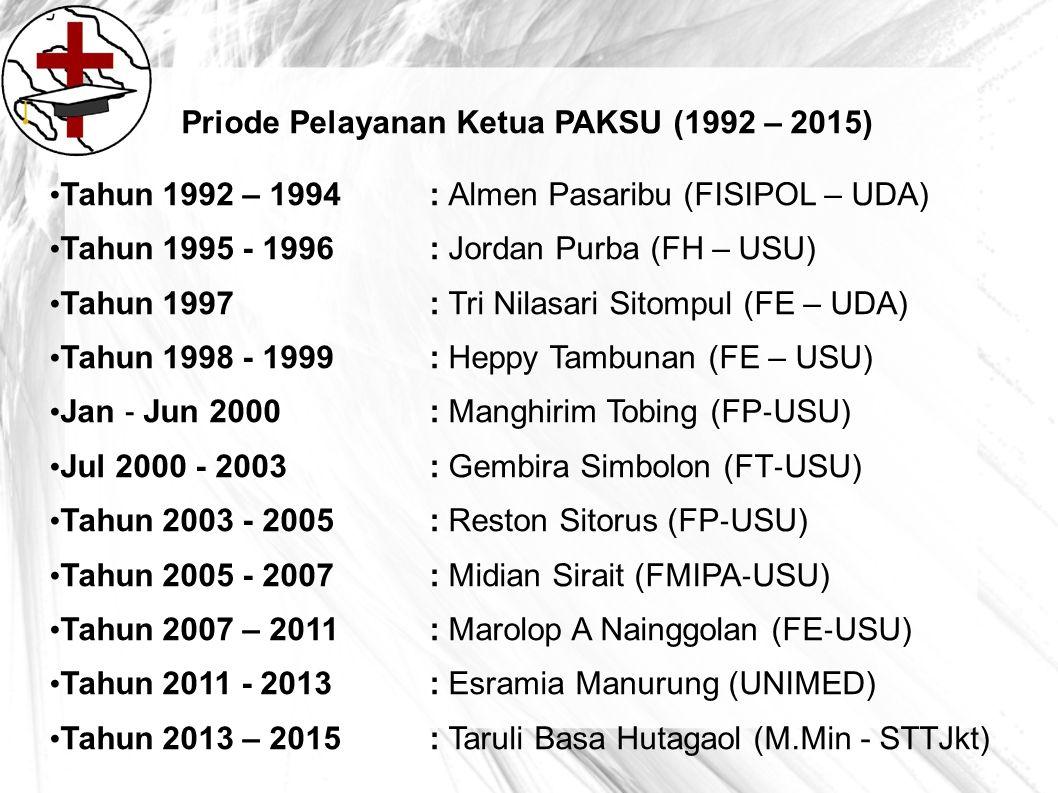 Priode Pelayanan Ketua PAKSU (1992 – 2015)