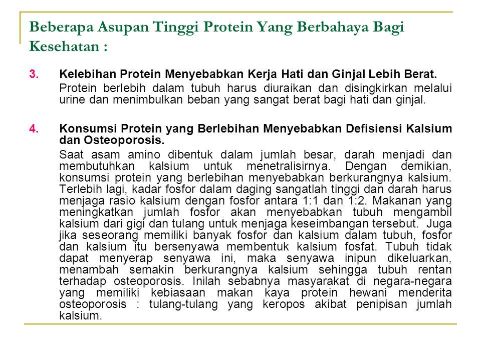 Beberapa Asupan Tinggi Protein Yang Berbahaya Bagi Kesehatan :