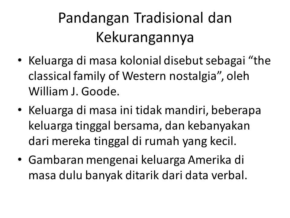 Pandangan Tradisional dan Kekurangannya