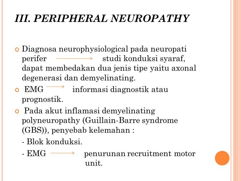 III. PERIPHERAL NEUROPATHY