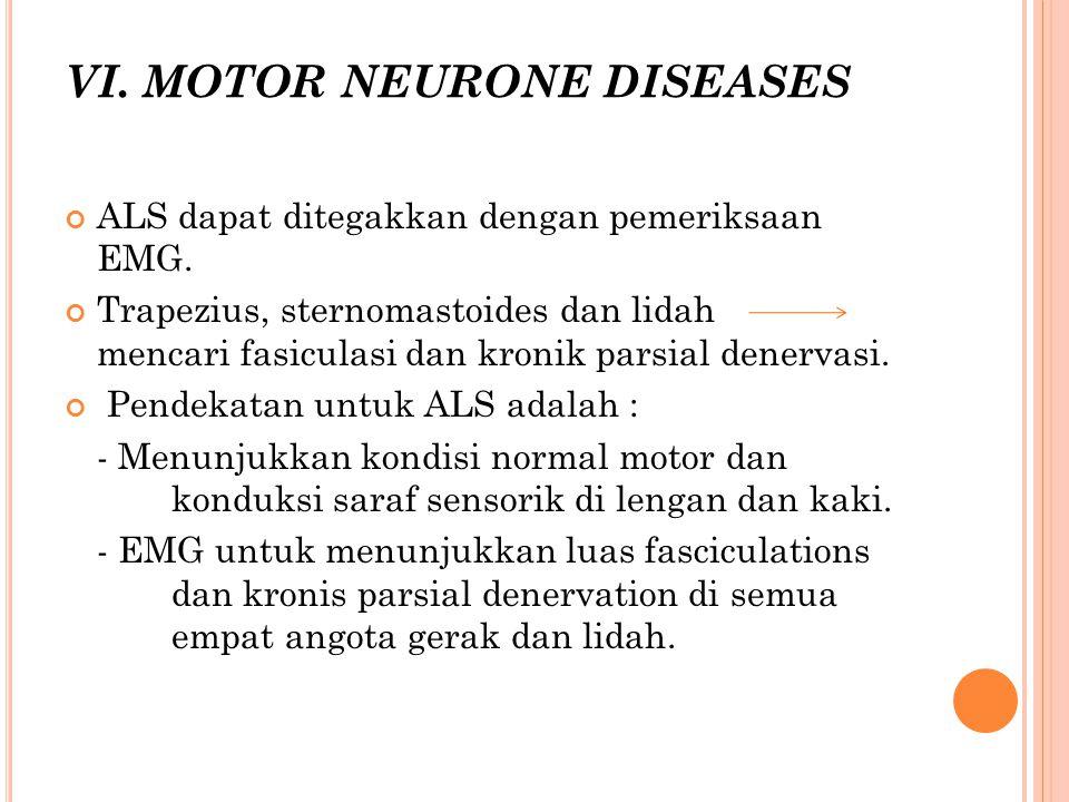 VI. MOTOR NEURONE DISEASES
