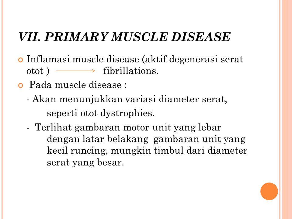 VII. PRIMARY MUSCLE DISEASE