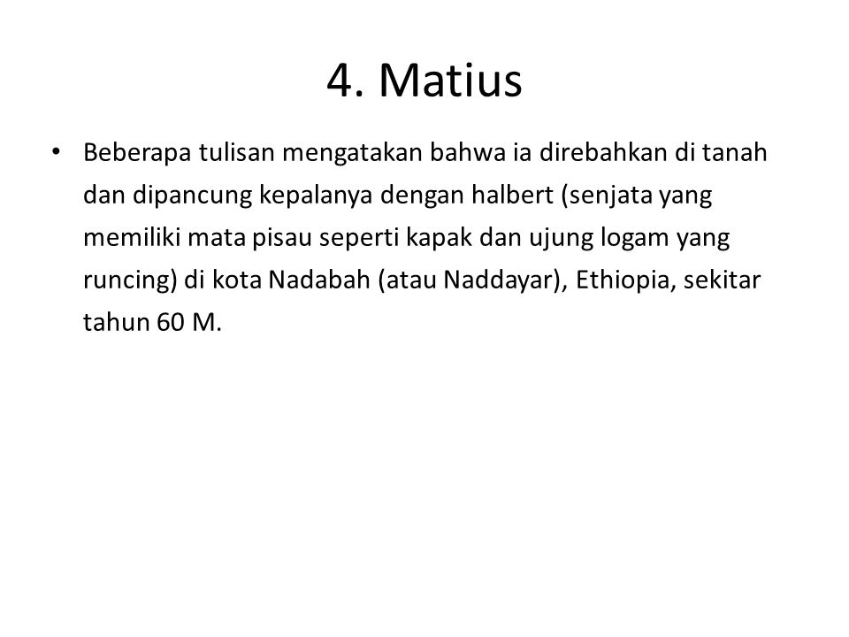 4. Matius