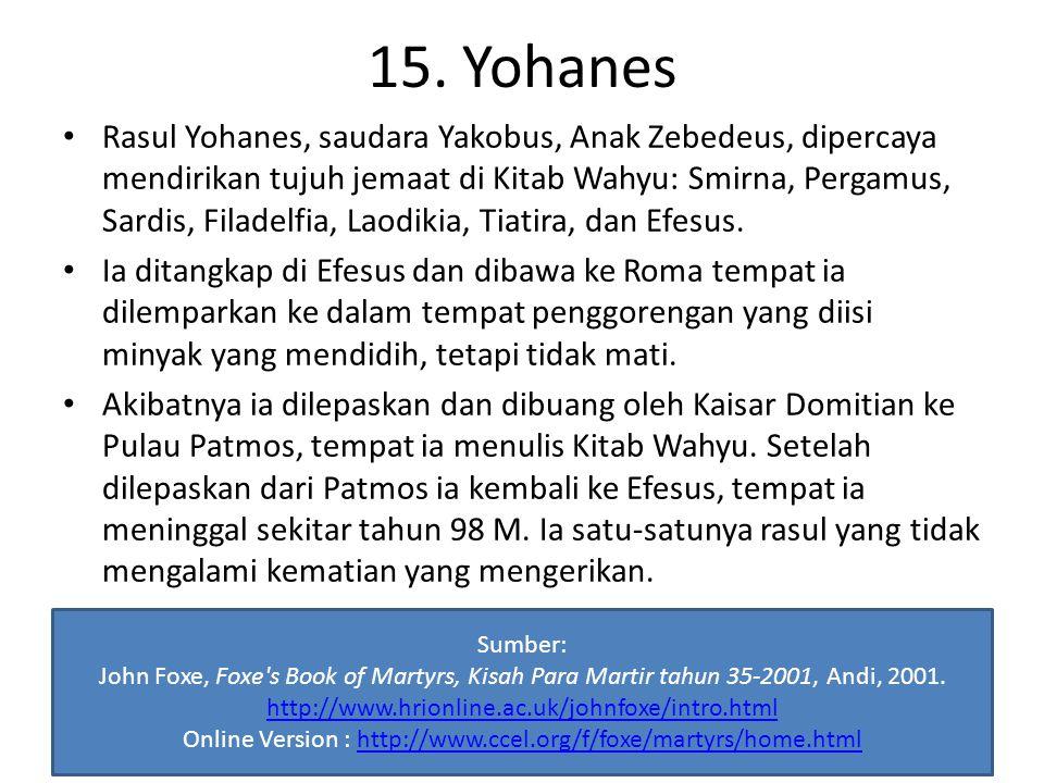 15. Yohanes