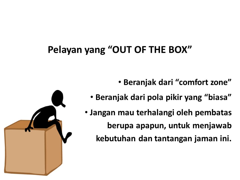 Pelayan yang OUT OF THE BOX
