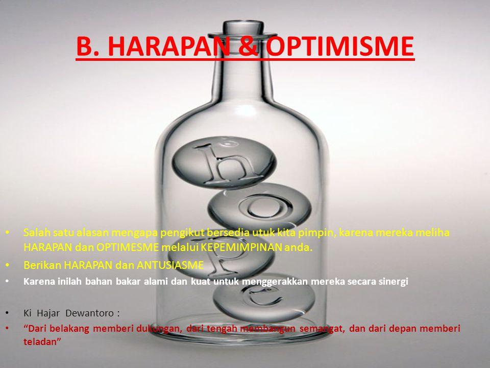 B. HARAPAN & OPTIMISME