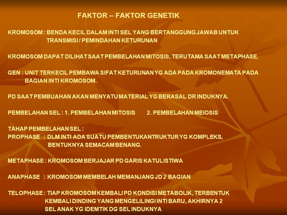 FAKTOR – FAKTOR GENETIK