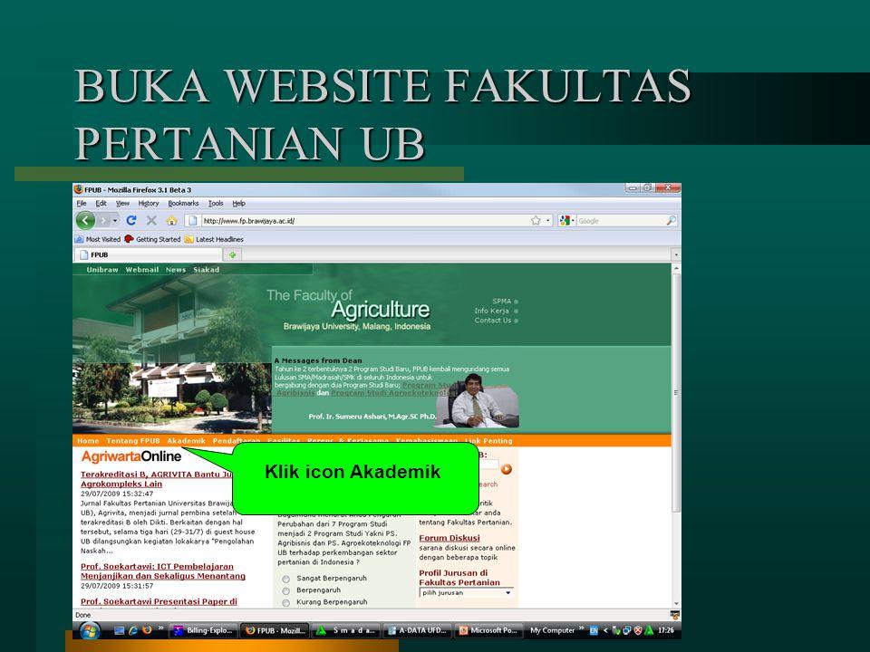 BUKA WEBSITE FAKULTAS PERTANIAN UB