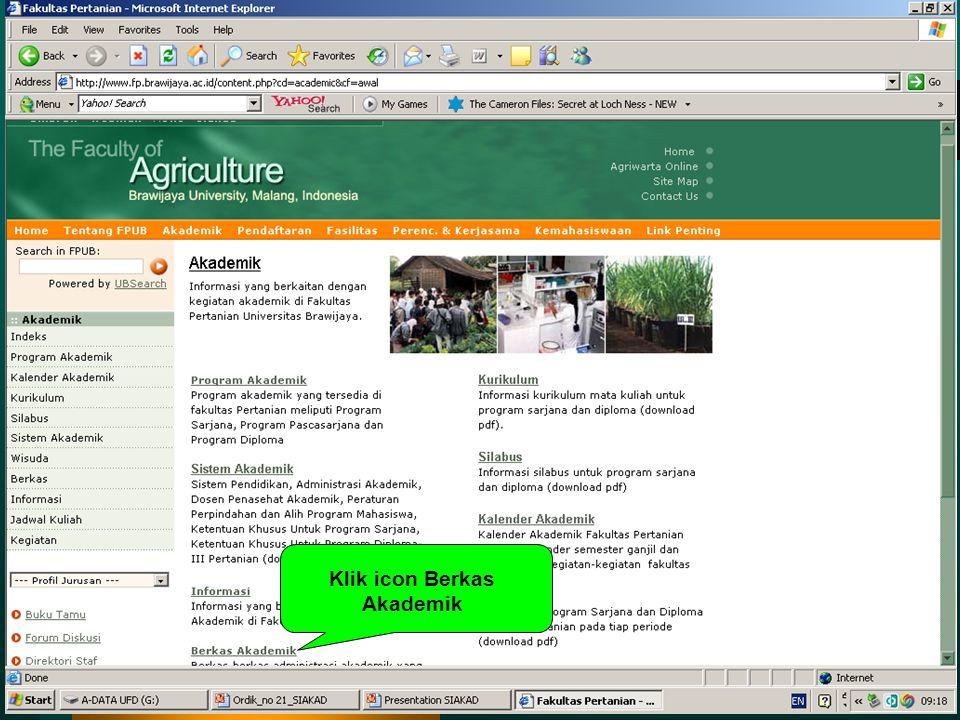 Klik icon Berkas Akademik