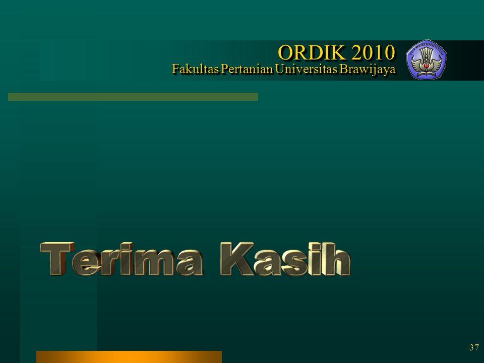 ORDIK 2010 Fakultas Pertanian Universitas Brawijaya